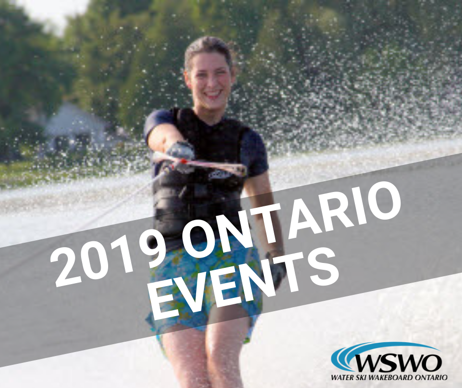 2019 WATER SKI ONTARIO EVENTS